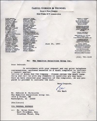 Cahill Gordon Letter